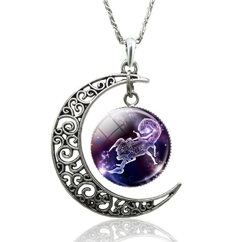 Zodiac Moon Pendants Scorpio